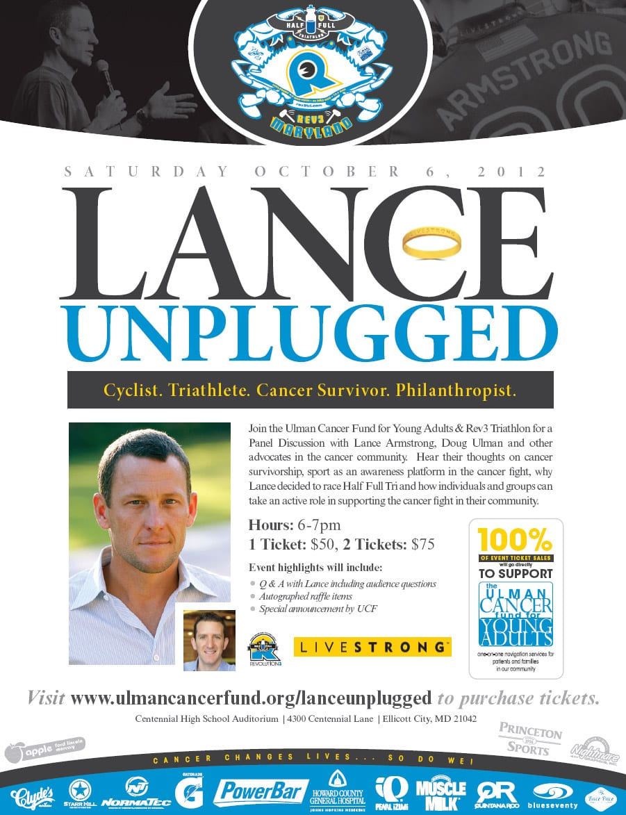Lance Armstrong Unplugged - REV3 & Ulman Cancer Fund 2012 copy